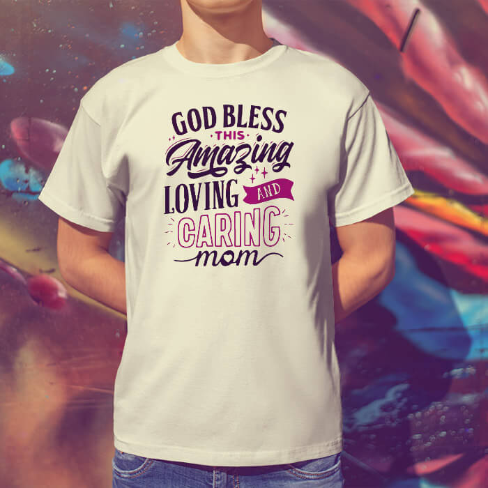 God bless quotes printed t-shirt for men