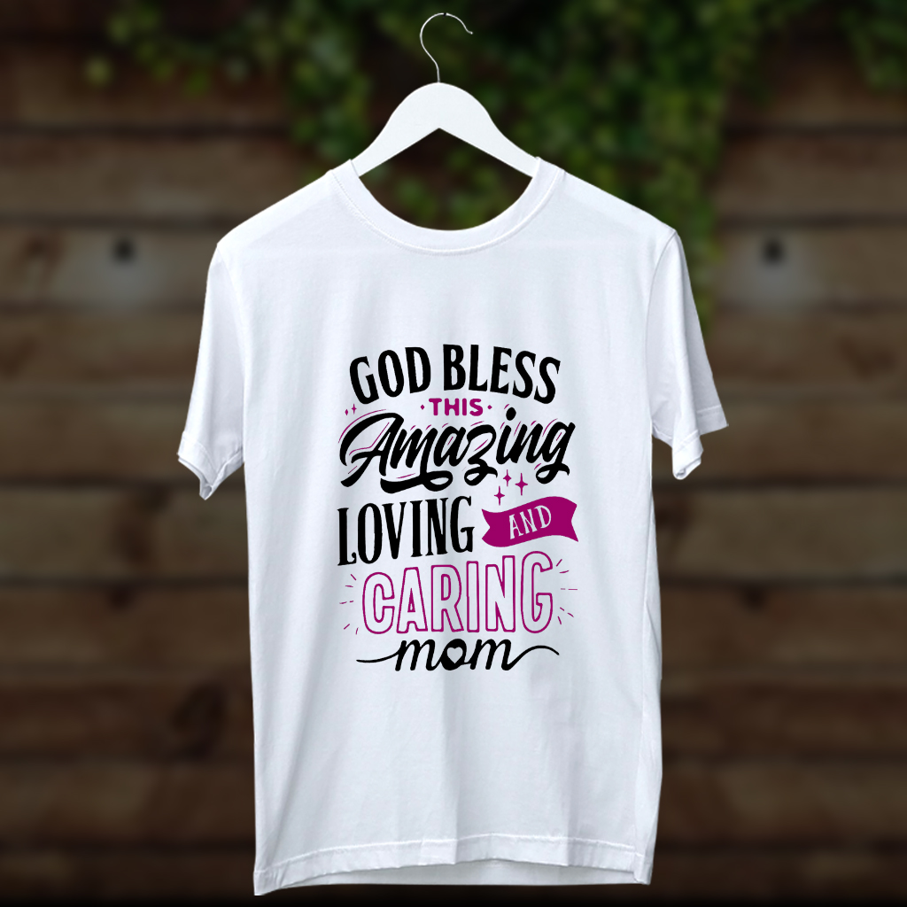 God bless quotes printed t shirt for men