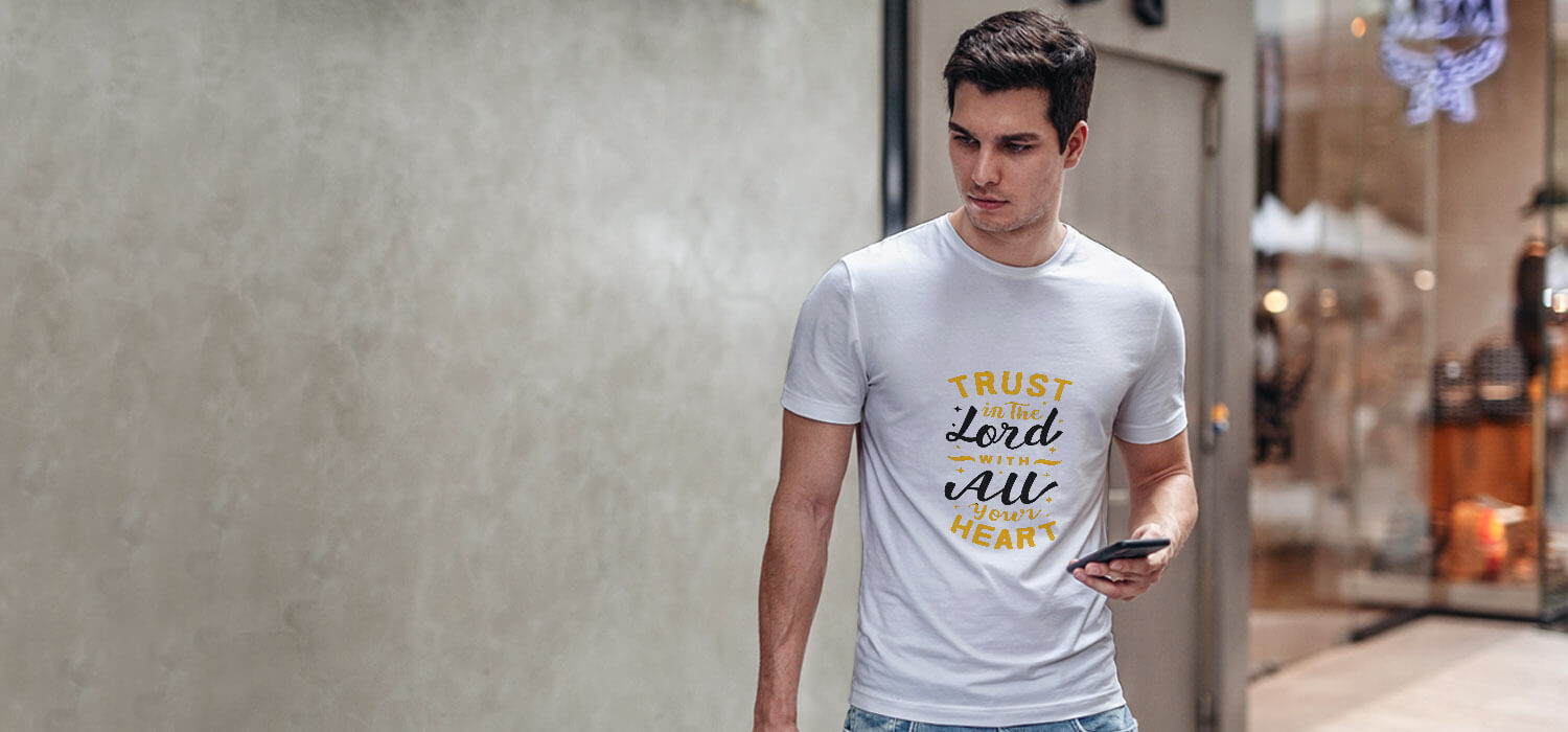 God quotes about life printed round neck t-shirt