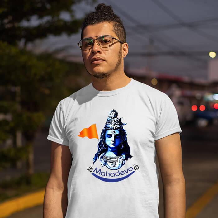 Mahadev best pics printed half sleeve t shirt for men