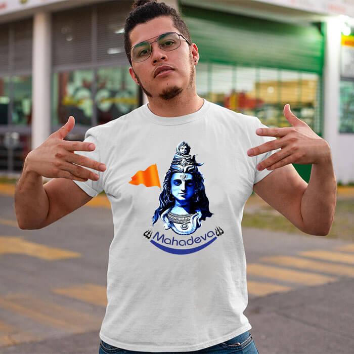 Mahadev best pics printed long t shirt for men