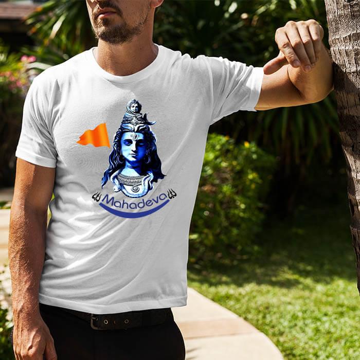 Mahadev best pics printed round neck t shirt for men