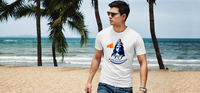 Mahadev pics printed best t shirt for men