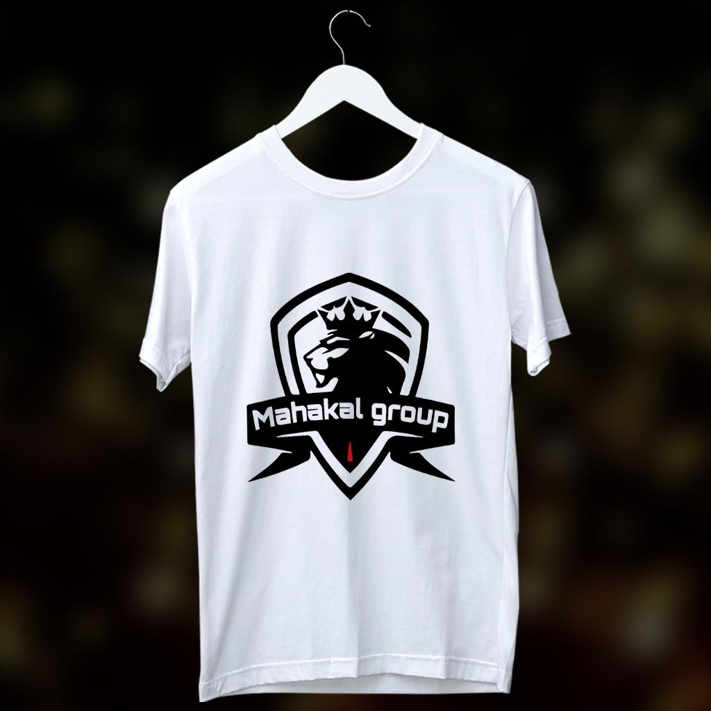 Mahakal Group Stylish Name Printed Round Neck White T Shirt
