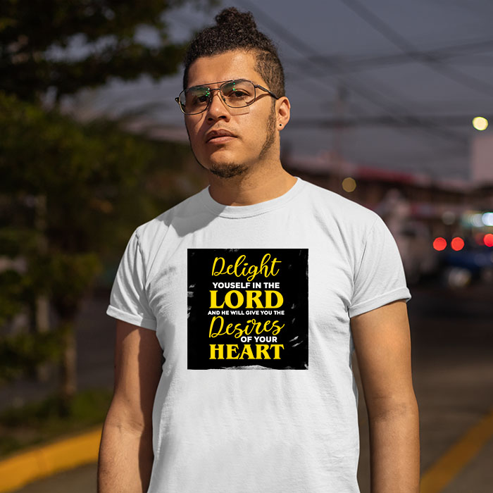 Motivational quotes about god printed white t shirt