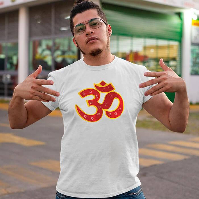 OM best design image printed long t shirt for men