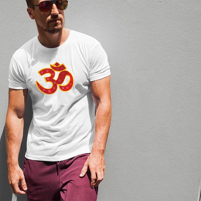 OM best design image printed t-shirt for men