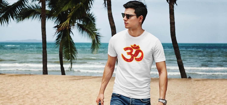 OM design image printed best t shirt for men