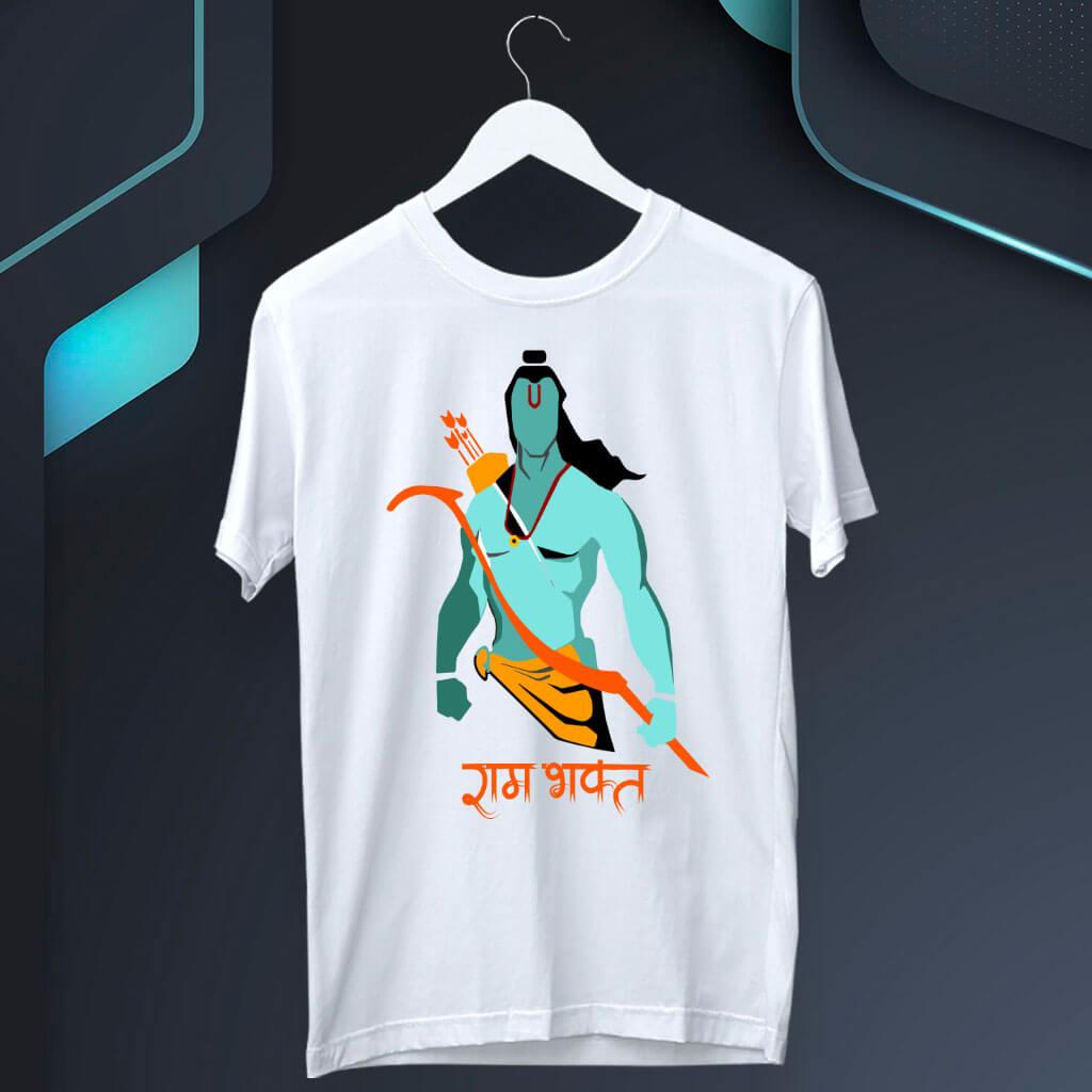 Ram Bhakt Sketch Best T Shirt For Men