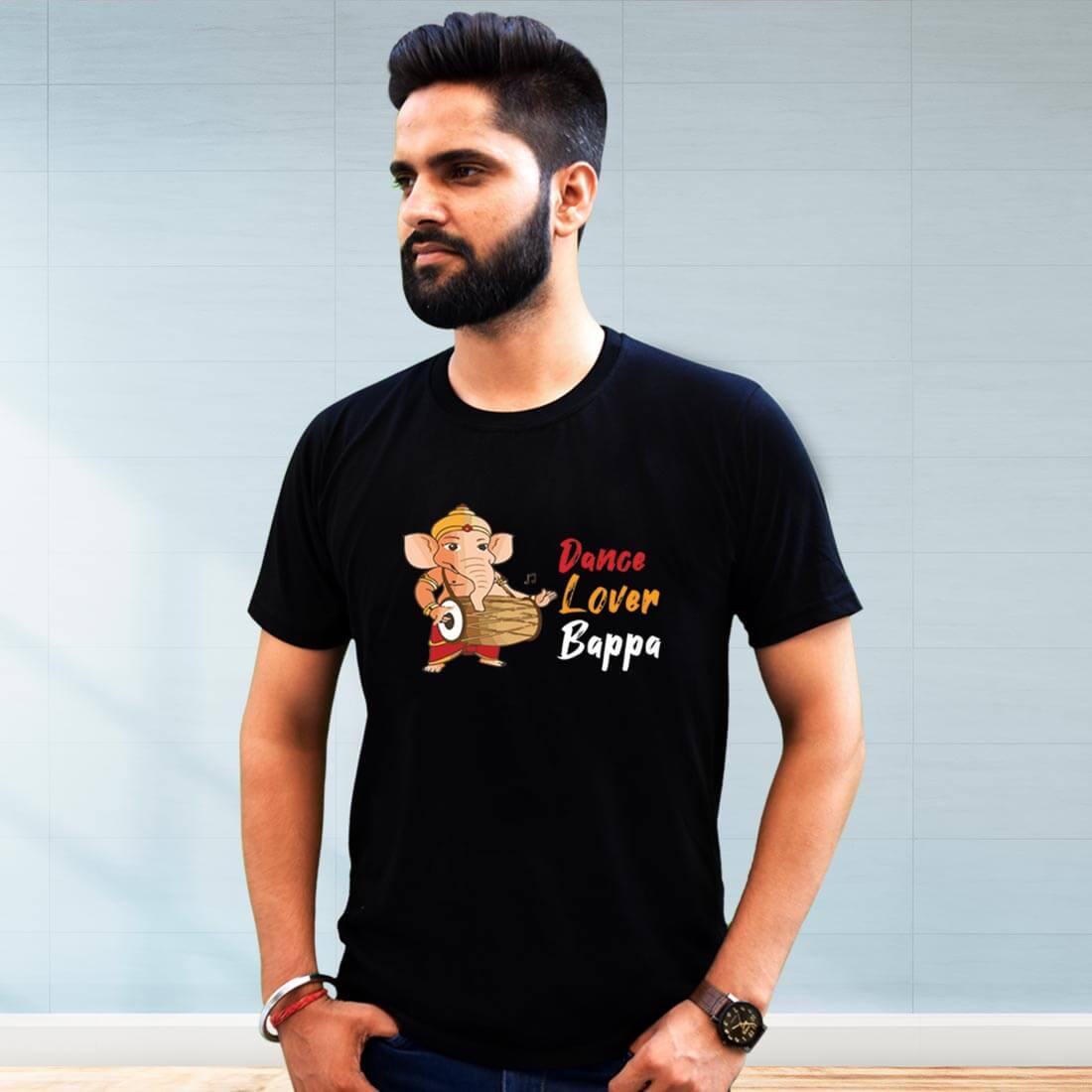 Dance Lover Bapa Printed Black T Shirt Men