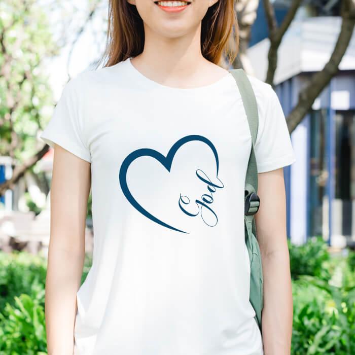 Designer God Letter Printed T-Shirt For Women Online
