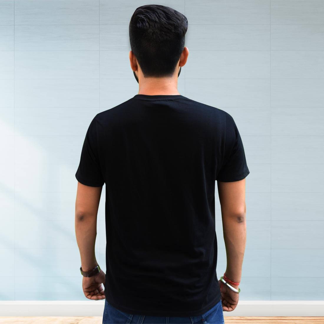 Hindu Raj Printed Black T Shirt Front and Back