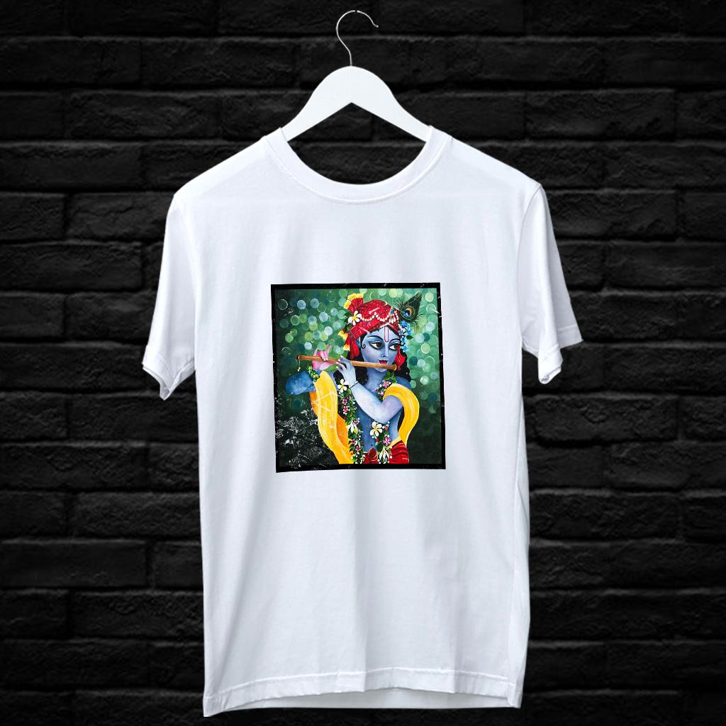 Krishna Best Painting Printed T Shirt Online