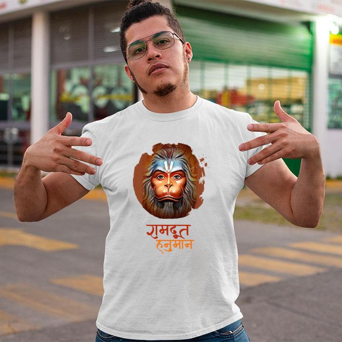 Ram Doot Hanuman printed online t shirt