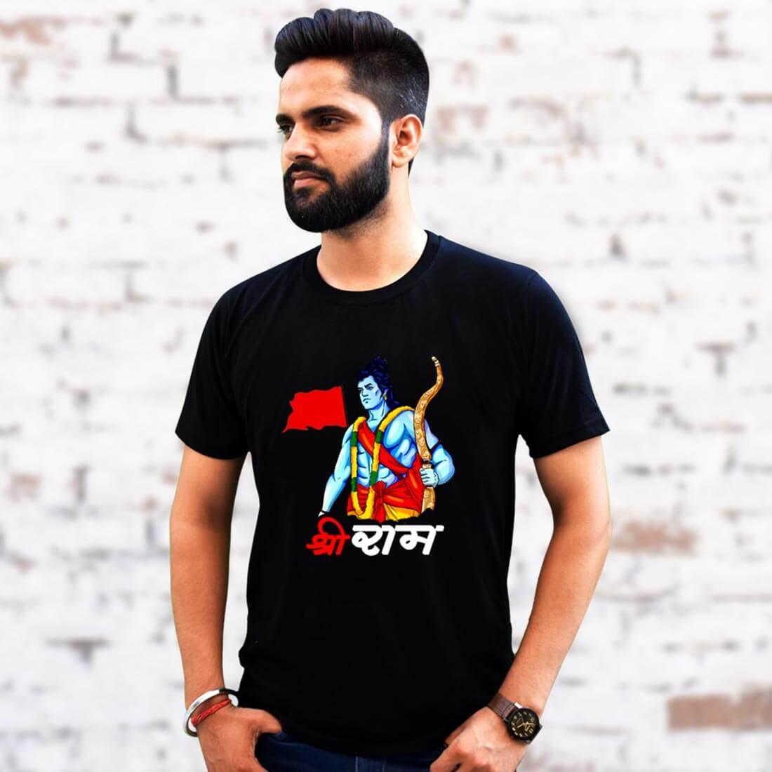 Ram Printed Black T Shirt Online