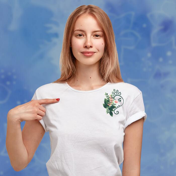 Stylish Ganesha With Flower Print Women T-Shirt