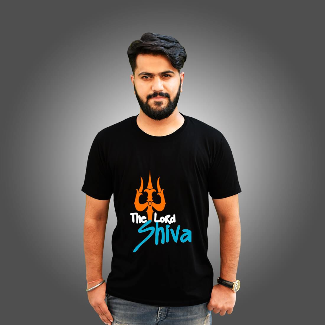 The Lord Shiva Printed Black T Shirt Men