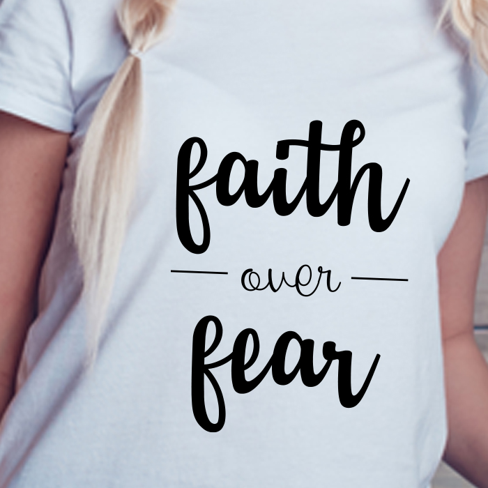 Faith Over Fear Printed Stylish T Shirt For Women