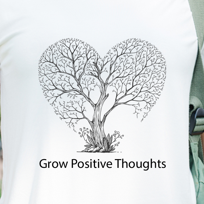 Grow Positive Thoughts Vintage Printed T Shirt For Women Online