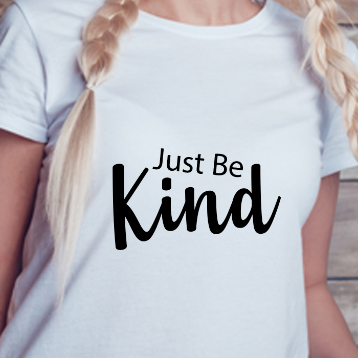 Just Be Kind Text Printed Printed Stylish T Shirt For Women