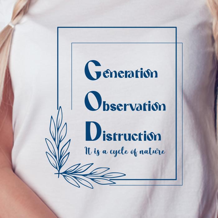 God Best Quotes Printed T Shirt Dress Women