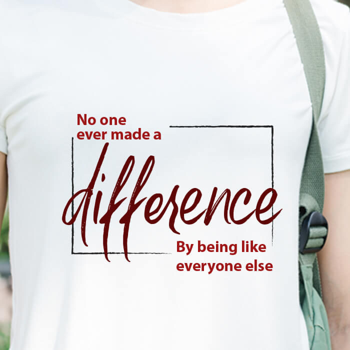 Make Difference Printed T Shirt For Women Online