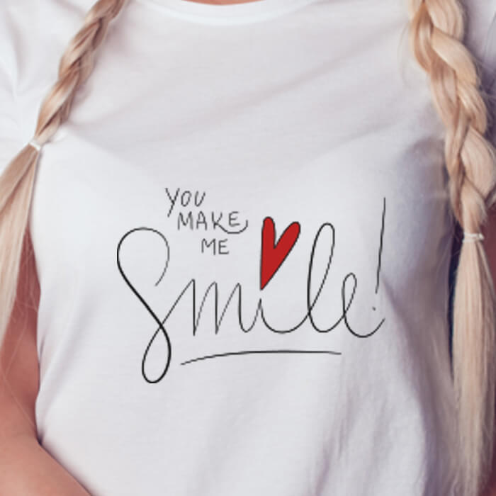 Women heart and quotes Graphic T Shirt For Women Online