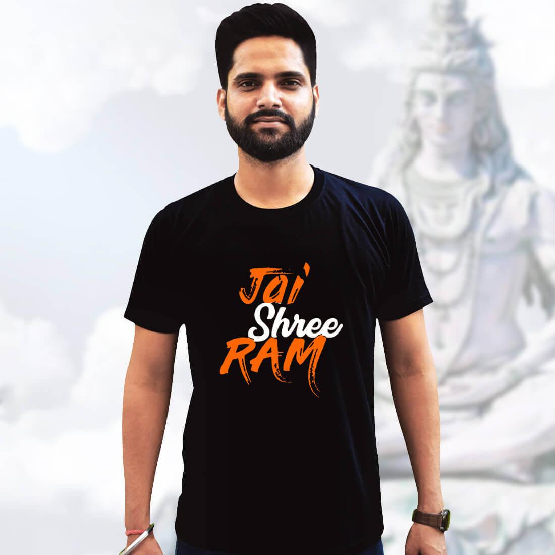 Best God Ram Black T-shirt Front and Back