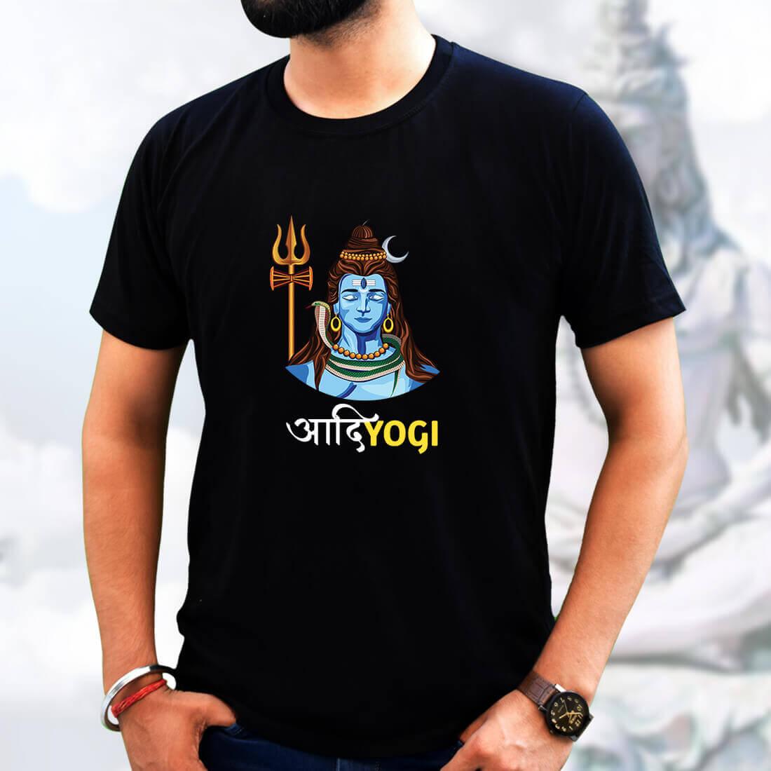 Best Hanuman simple and Different For Men Black T-Shirt