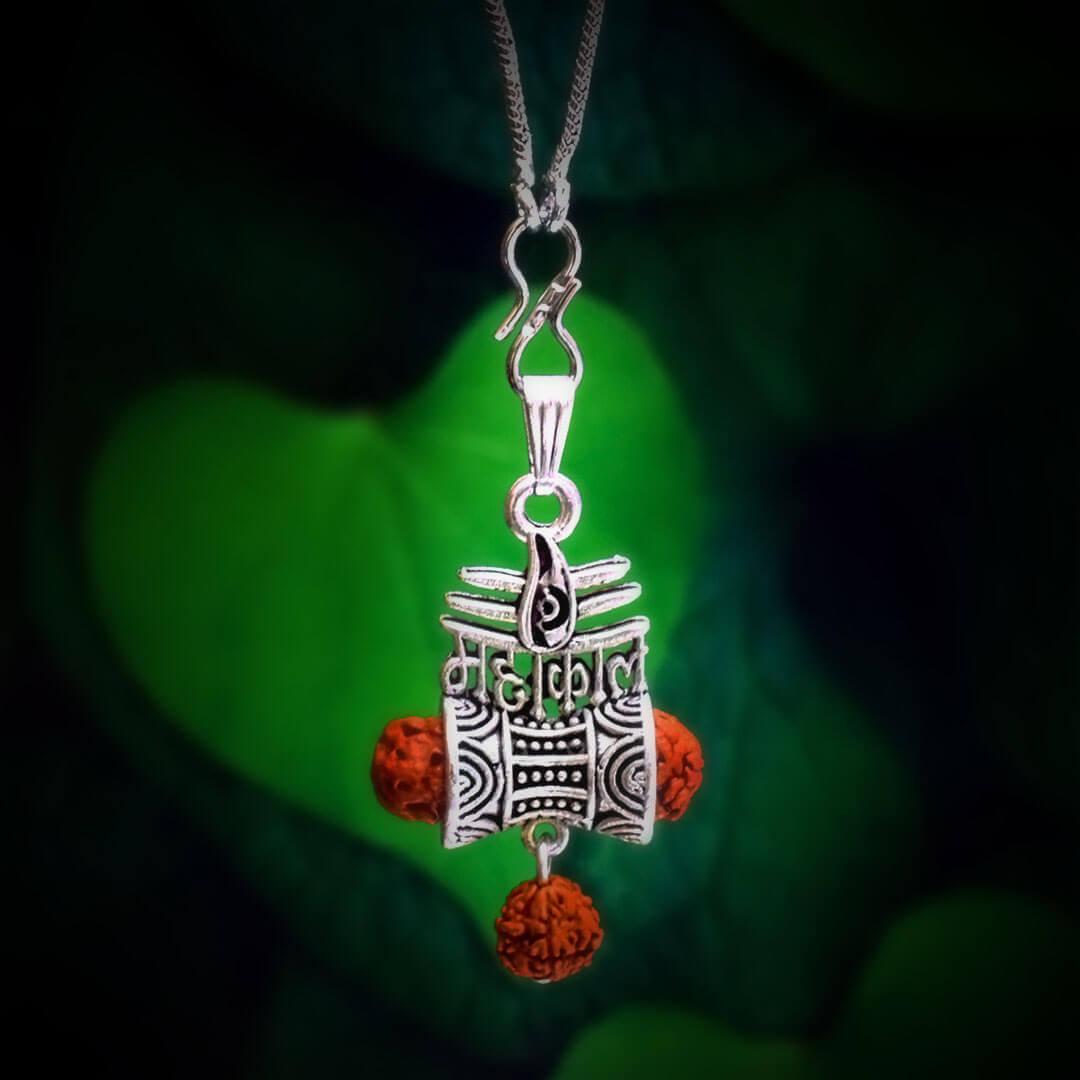 Mahakal-Silver-Locket-With-Chain