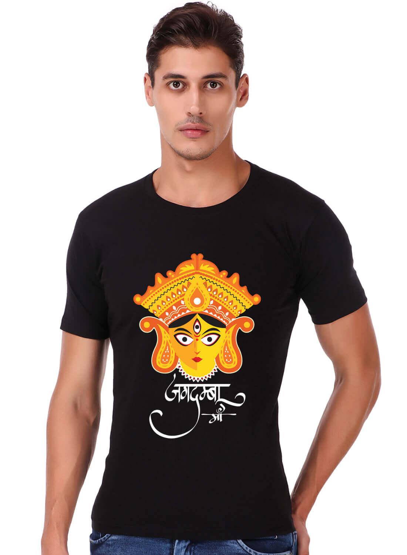 Jagdamba Maa Printed T-shirt Black