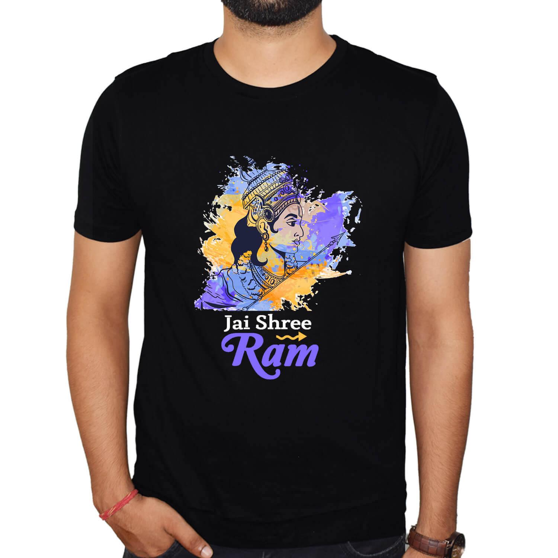 Jai Shree Ram Printed round neck T-Shirt Combo